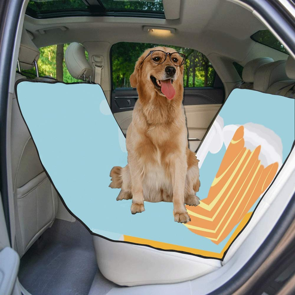 VNASKL Dog Seat Cover Custom Isolated Croissant Orange Juice Printing Car Seat Covers for Dogs 100/% Waterproof Nonslip Durable Soft Pet Car Seat Dog Car Hammock for Cars Trucks SUV
