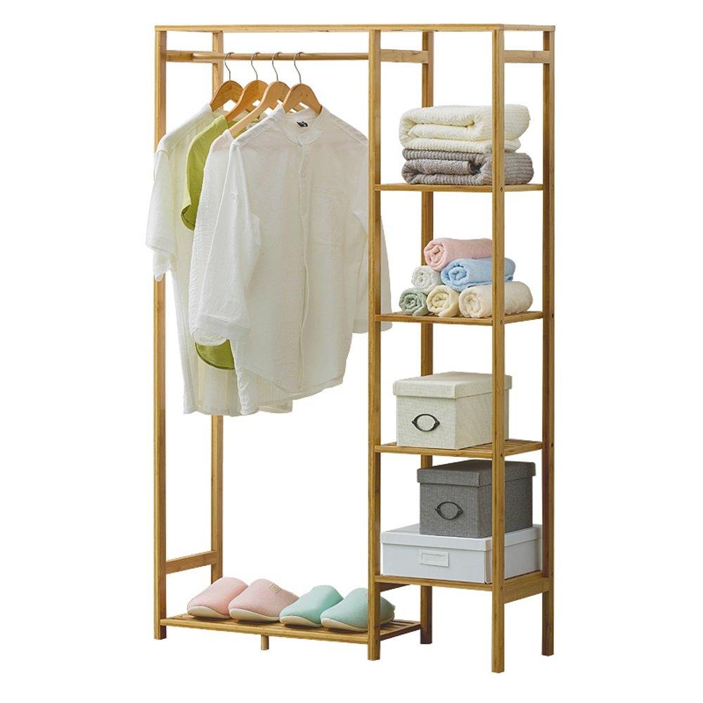 Cabinet Type Simple Solid Wood Bamboo Coat Racks Hangers Landing Bedroom Clothes Shelves Storage Rack 90CM30CM145CM