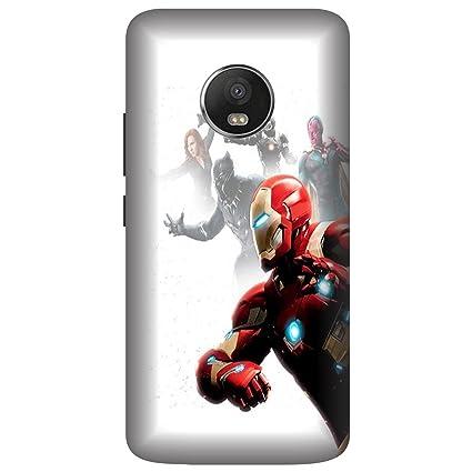 brand new 20054 84fa5 Wizzart Moto E4 Plus Back Cover Case In Print Designer: Amazon.in ...