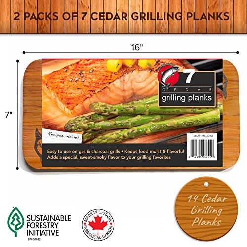 "Cheapest Price! Coastal Cuisine Cedar Grilling Planks (14 Pack) - Premium Sized 7"" x 16"" Western..."