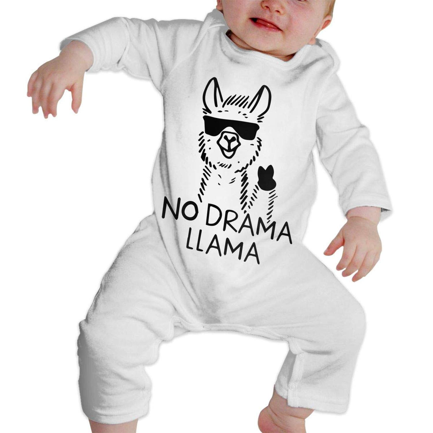No Drama No Llama Newborn Kids Long Sleeve Bodysuit Infant Romper Jumpsuit Onesies