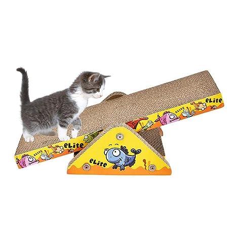 AIHOME Kratz Tabla cartón Kratz Juguete balancín Rascador Muebles Ondulado para Gatos