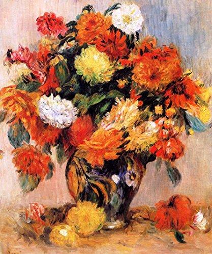 """Vase of Flowers by Pierre Auguste Renoir - 20"""" x 25"""" Premium Canvas Print"""