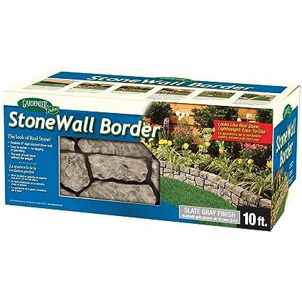 Amazon.com : BestNest Gardeneer Stonewall Faux Stone Border ...