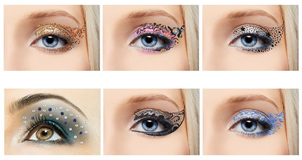 Eyes tattoo makeup mugeek vidalondon for Crystal eye tattoos