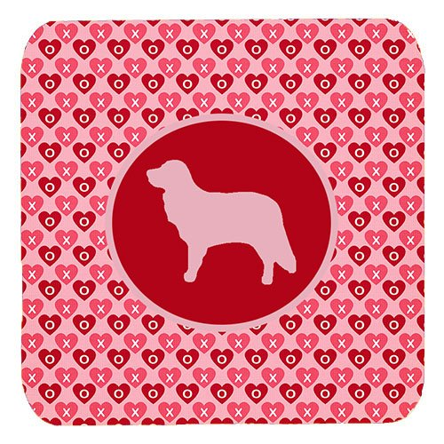Caroline's Treasures SDK1049-A-FC Nova Scotia Duck Toller Valentine Hearts Foam Coasters (Set of 4), 3.5