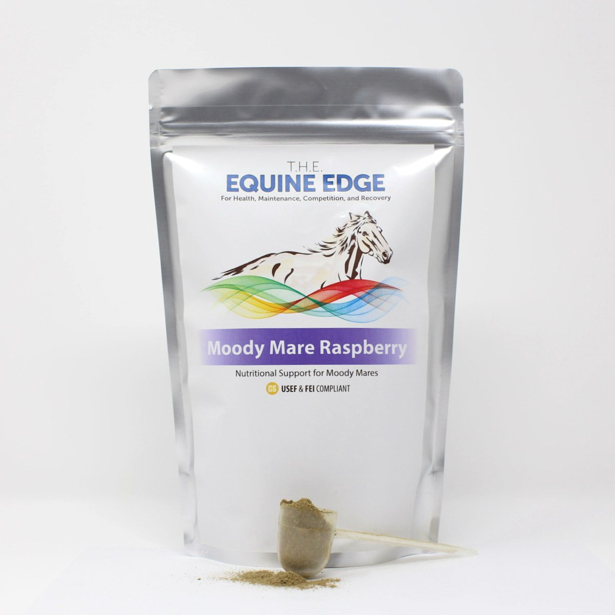 T.H.E. Equine Edge Moody Mare Raspberry - Pure Organic Raspberry Leaf for Calming, 30 Servings by T.H.E. Equine Edge