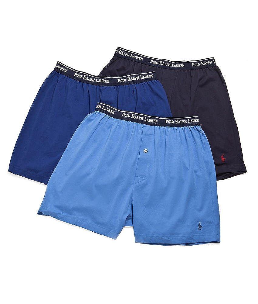 d1a64861b4db Polo Ralph Lauren Classic Cotton Knit Boxer 3-Pack, S, White at Amazon  Men s Clothing store