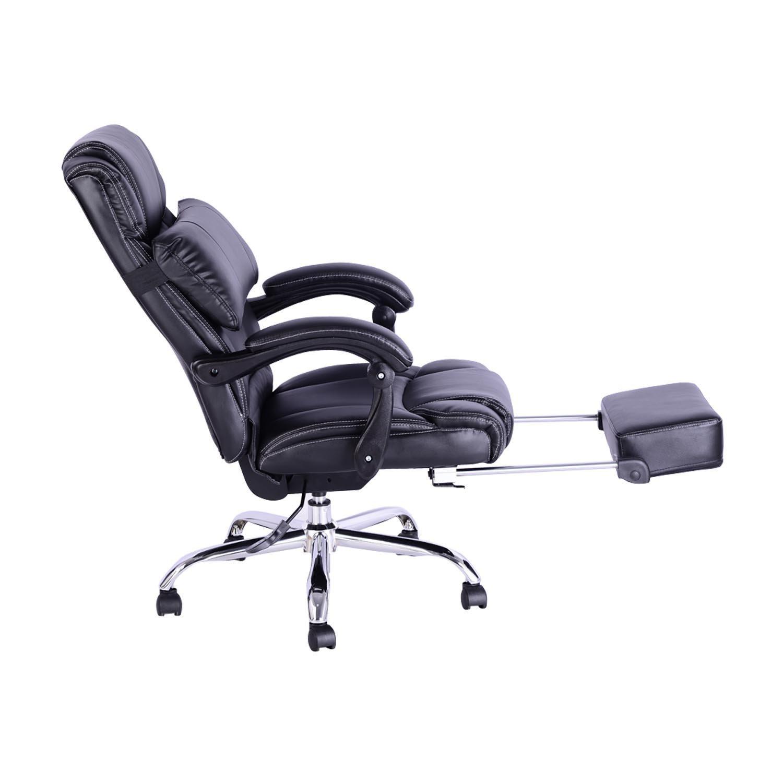 reclining office chairs. HOMCOM Luxury Executive Reclining Office Chair With Retratable Footrest Adjustable Backrest - Black: Amazon.ca: Home \u0026 Kitchen Chairs R