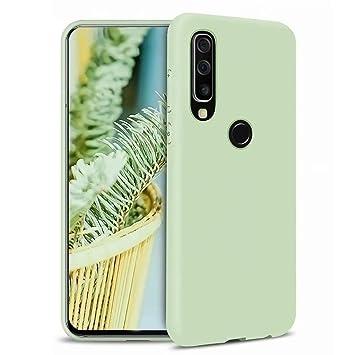 Funda Samsung Galaxy A20/A30 Fanxwu Color Sólido Caso Suave TPU Silicona Cómoda Carcasa Resistente a Los Arañazos Anti-Golpes Protector Case - Verde