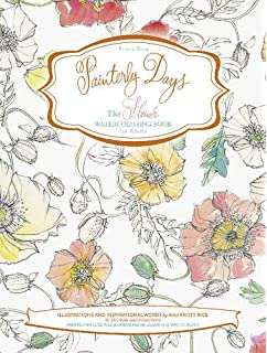 painterly days the flower watercoloring book for adults - Water Coloring Book
