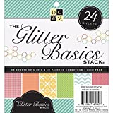Diecuts With A View MS019051 Paper Stack, 6 by 6-Inch, Glitter Basics, 24-Pack