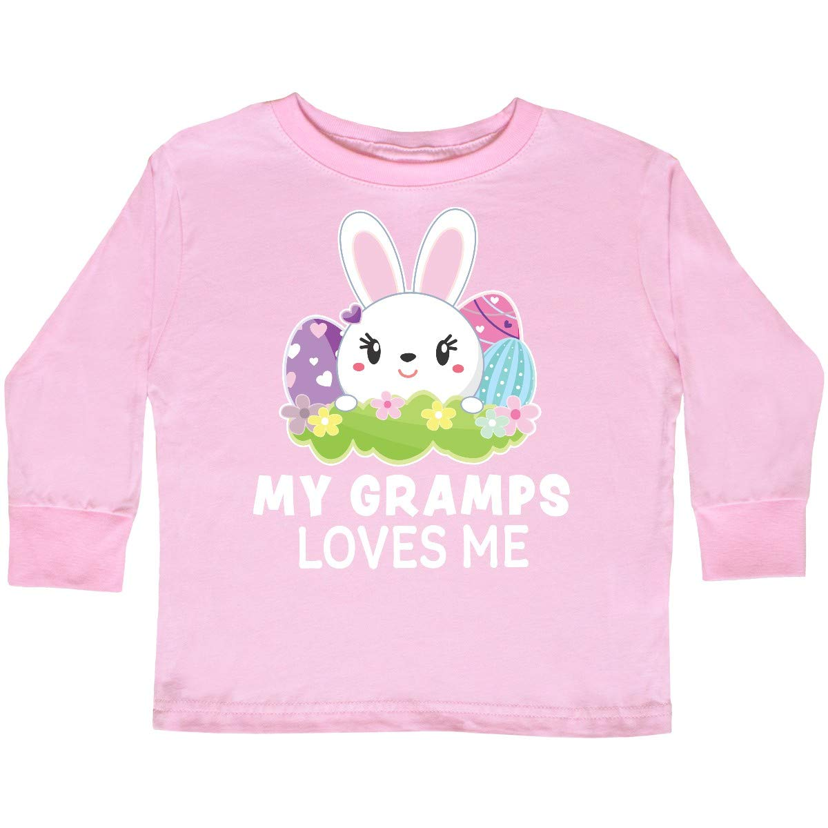 inktastic My Gramps Loves Me with Bunny and Easter Toddler Long Sleeve T-Shirt