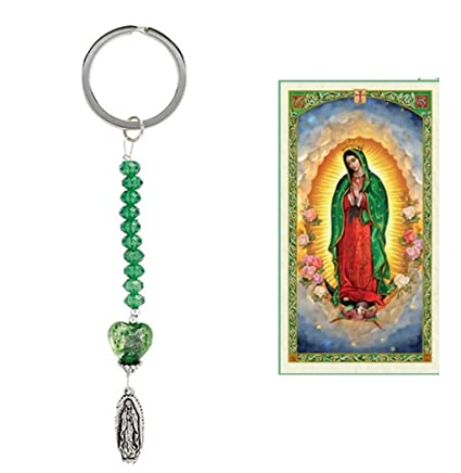 Amazon.com: Nuestra Senora de Guadalupe Llavero de Acero ...