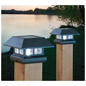 solar deck post lights 4x4 menards home depot 4 x cap pack black