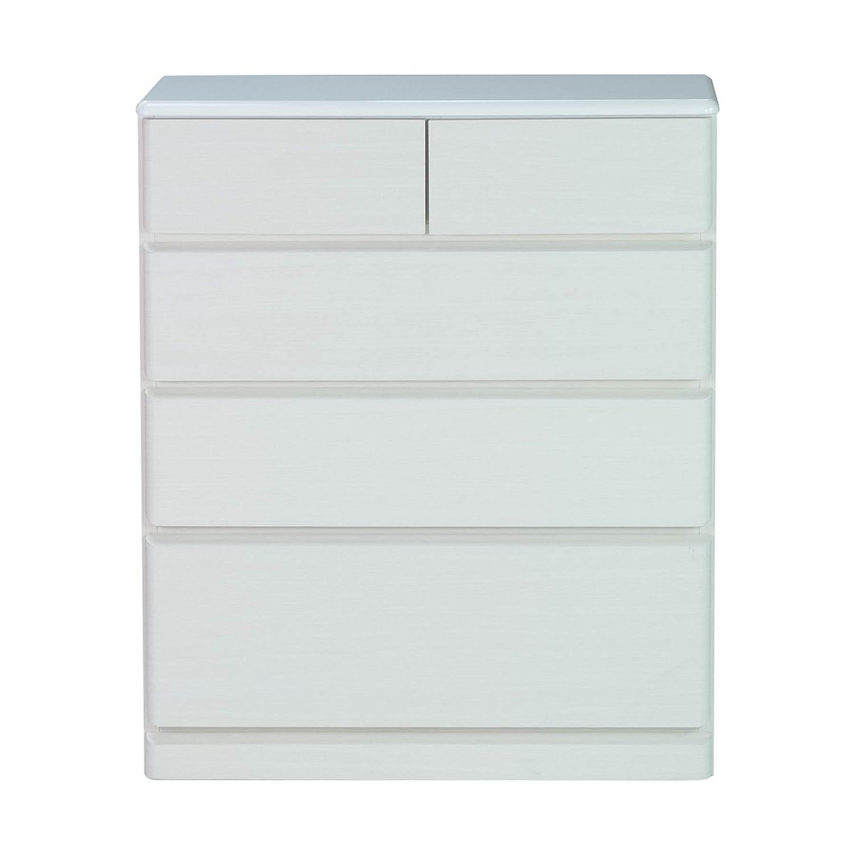 ISSEIKI チェスト ホワイト 幅75 PULITO CHEST 75-30 (MF-WH) 4段 白 75cm 引き出し B07F1N8QVGホワイト 75cm