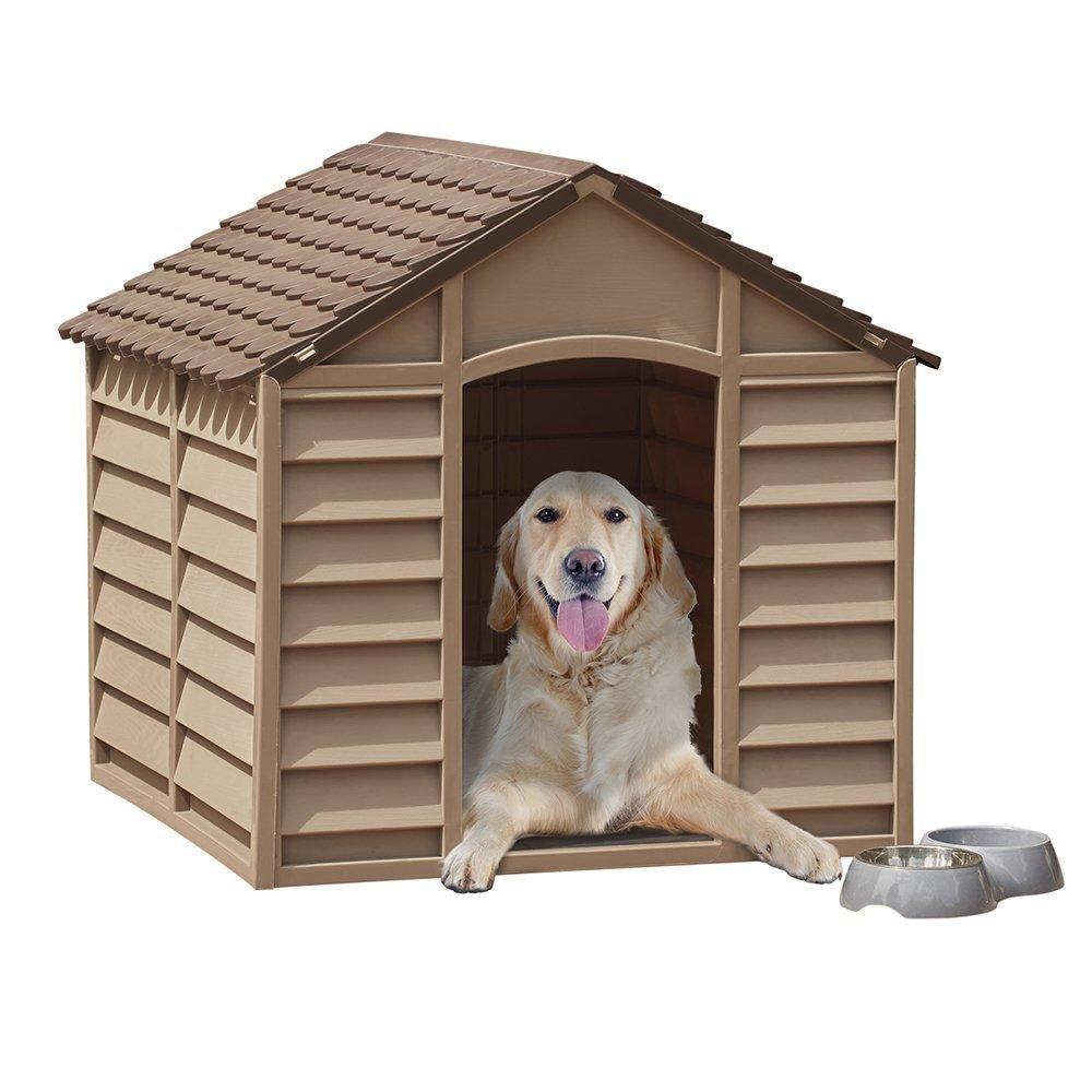 Caseta para mascotas grande y resistente, plástico duradero, para interiores y exteriores, para invierno, sin óxido: Amazon.es: Productos para mascotas