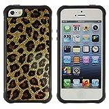 God Garden@ Gold Bling Glitter Leopard Pattern Fur Rugged Hybrid Armor Slim Protection Case Cover Shell For iphone 5S CASE Cover ,iphone 5 5S case,iphone5S plus cover ,Cases for iphone 5 5S