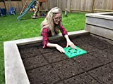 Seeding Square: The Color-Coded Seed Spacer. Organizes and Optimizes Vegetable Gardens to Grow More Greens and Less Weeds. Gardening Made Simple!