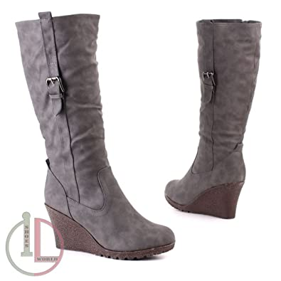 dc229b60ea695d Damen Stiefel Grau 41 (P299)  Amazon.de  Schuhe   Handtaschen