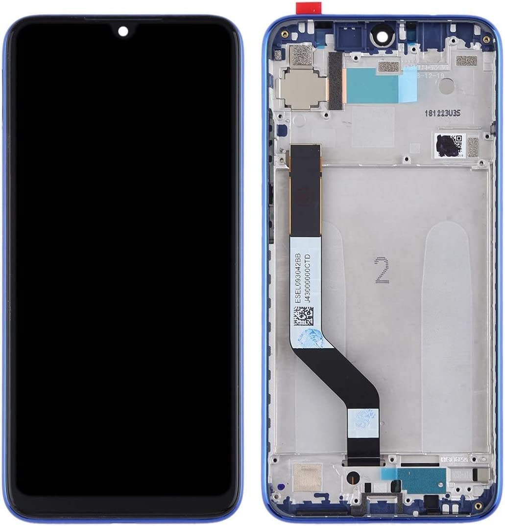 Redmi Note 7 Pro LCD Screen Mobile Phone and Digitizer Full Assembly with Frame for Xiaomi Redmi Note 7 Color : Blue Black
