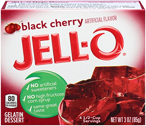 - Jell-O Gelatin Dessert, Black Cherry, 3-Ounce Boxes (Pack of 6)
