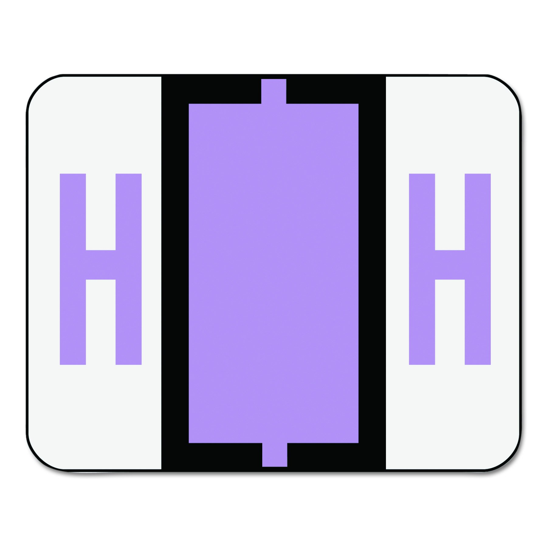 Smead 67078 A-Z Color-Coded Bar-Style End Tab Labels, Letter H, Lavender, 500 per Roll
