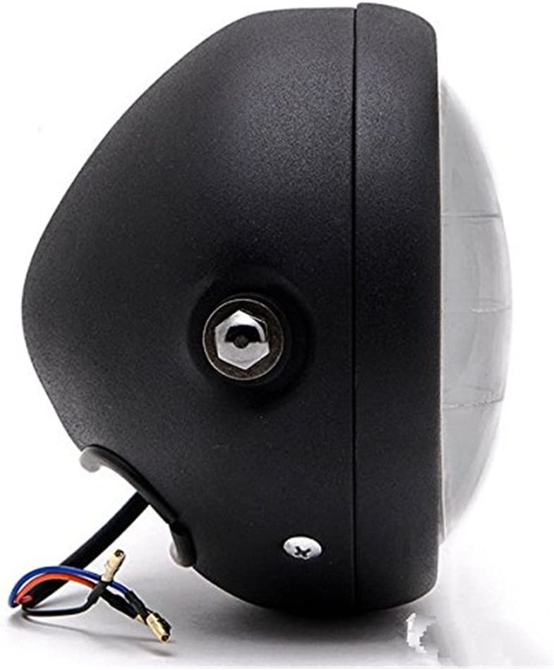 DLLL LED Universal Metal Negro 6,5/faro proyector linterna frontal Hi//lo Beam para Kawasaki Vulcan Classic Nomad Voyager Vaquero 1700
