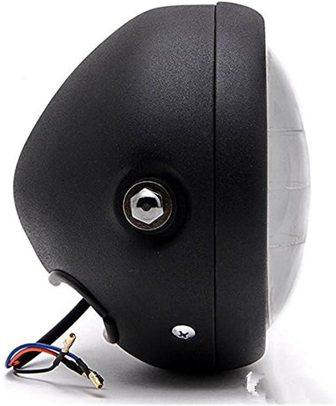 Dlll Led Universal Metall Schwarz 16 5 Cm Scheinwerfer Projektor Scheinwerfer Hi Lo Beam Für Vt Shadow Spirit Velorex Deluxe 600 750 1100 Auto