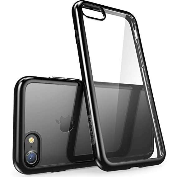 0b857a542ffb6 i-Blason Clear Case for iPhone 7 2016 / iPhone 8 2017 Release , [Halo  Series] [Scratch Resistant] (Clear/Black)
