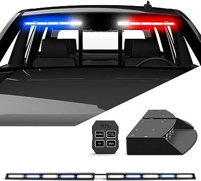 Amazon Com Speedtech Lights Raptor Tir Upper Windshield Interior Split Led Strobe Visor Light Bar Emergency Lights For Vehicles And Police With Bracket And Control Box Blue Clear Alternating Automotive