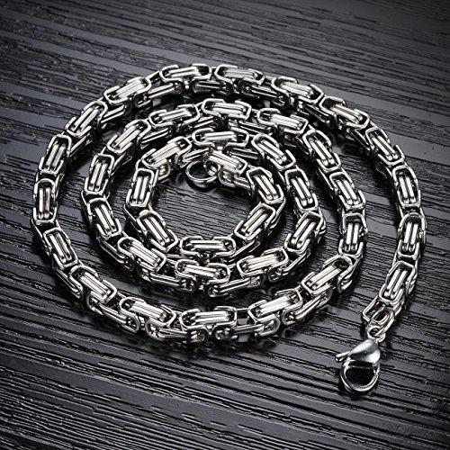6b5eb61db29d 50% de descuento OPK joyería acero inoxidable collar de cadena bizantina  Punk Rock hombre