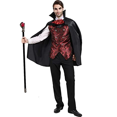 EraSpooky Disfraz Vampire de los Hombres Disfraces Capa ...
