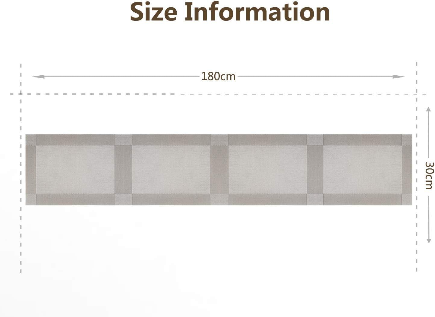 Homcomodar Runner da Tavolo Oro Lavabile PVC Resistente Runner da Tavolo per Tavolo da Pranzo 30x135cm