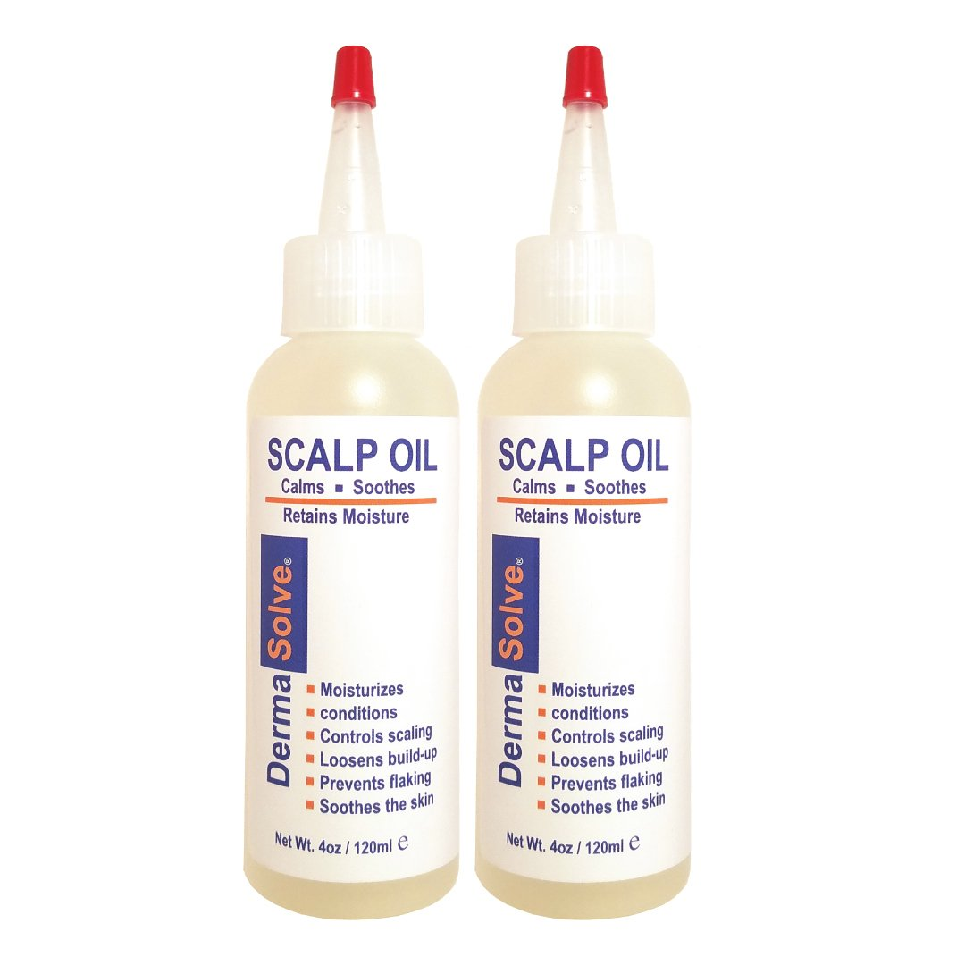 Dermasolve Psoriasis Scalp Oil 2-Pack Forumlated to Loosen Scaling Build-up, Moisturize, Condition, Prevent Itching, Flaking and Soothe the Scalp. (4.0 oz per bottle) by Dermasolve