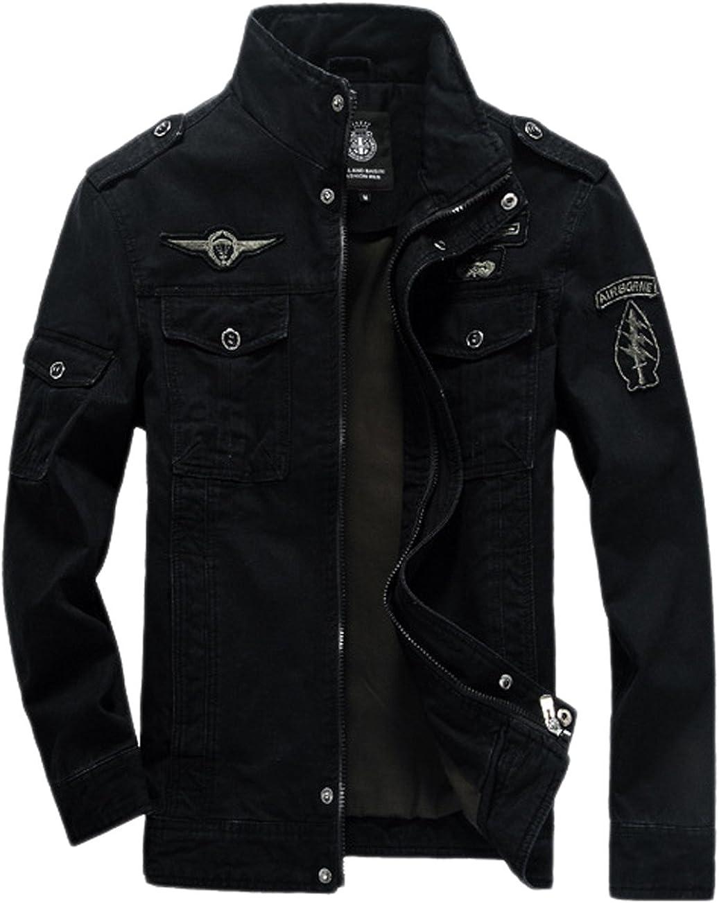 chouyatou Men's Casual Long Sleeve with Full Save money El Paso Mall Zip Jacket Shoulder