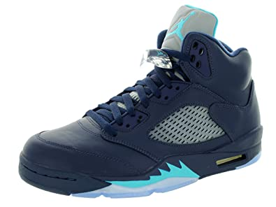 3072883a346 Nike Men's Midnight Navy, Turquoise Blue and White Synthetic Jordan Retro  Hornets ...