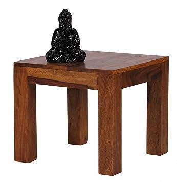 Mesa de madera sheesham 45 cm de ancho Salón de mesa diseño ...