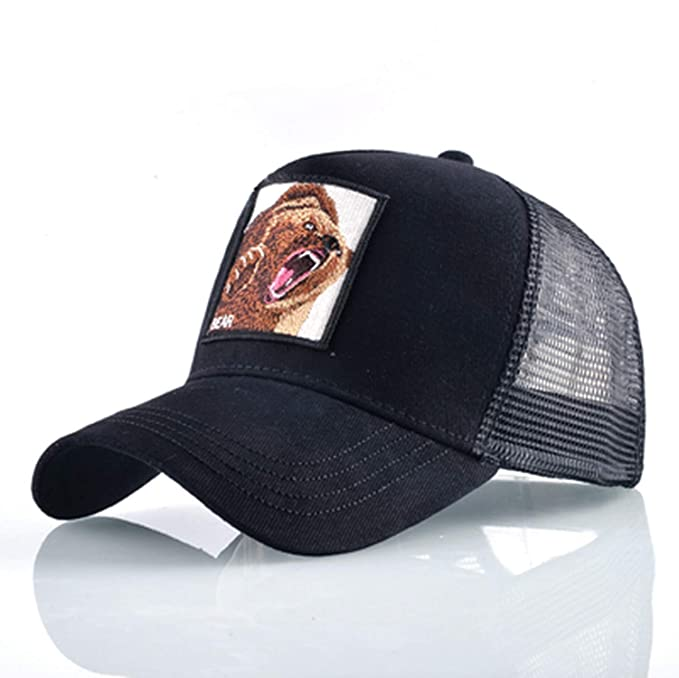 f9cfb928acb64 Image Unavailable. Image not available for. Color  Embroidery Animal  Baseball Caps Men Breathable Mesh Snapback caps Unisex Sun hat for Women ...