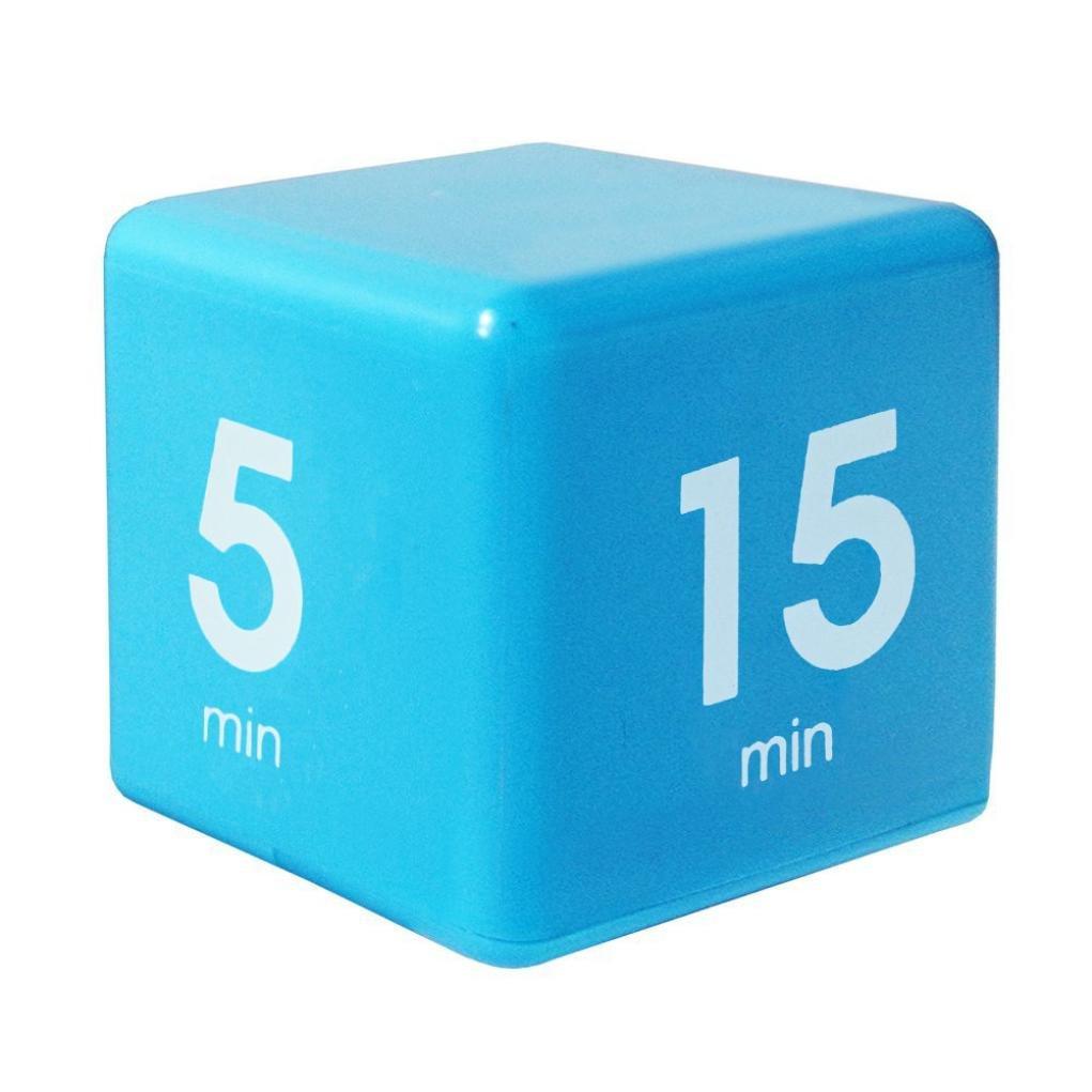 Compia Clock Horloge⭐6X6X6cm Clock Timer Alarm Cube Digital 5, 15, 30, 60 Minutes Time Management Office Timer Howyi Store