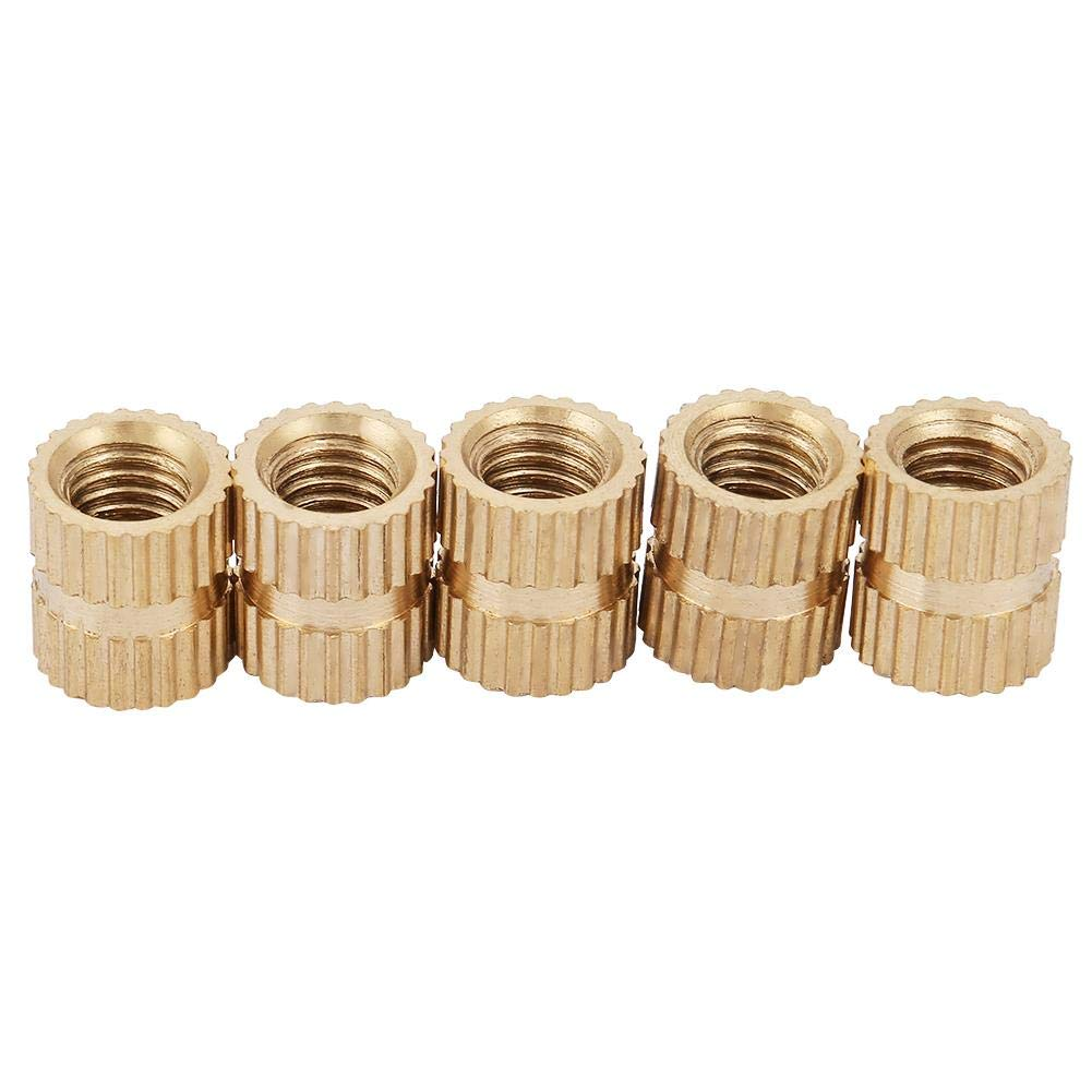 M510 7.3(20pcs) 5mm Closed End Inlay Knurled Copper Nut Fastener Accessory Embedded Knurled Nut Set Knurled Nut Blind Knurled Nut