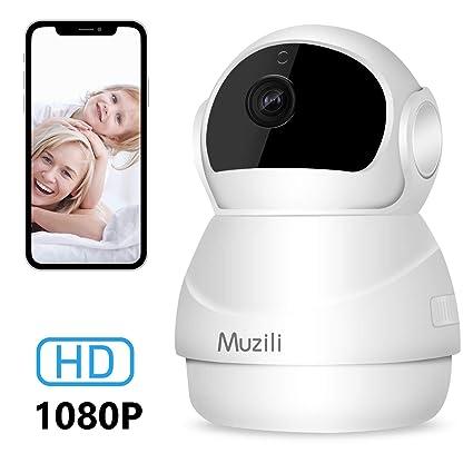 Cámara IP Muzili 1080P HD WiFi Cámara de Vigilancia, Monitor inalámbrico de Seguridad para el