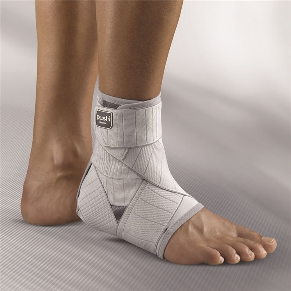 Push med Ankle Brace Left Size 3 - Replicates Functional Taping