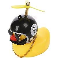 QKFON 2/4 stks Eend Auto Decoraties, Kleine Geel Eend Windbreaker Eendje met helm, Kids Duck Light Horn Leuke…