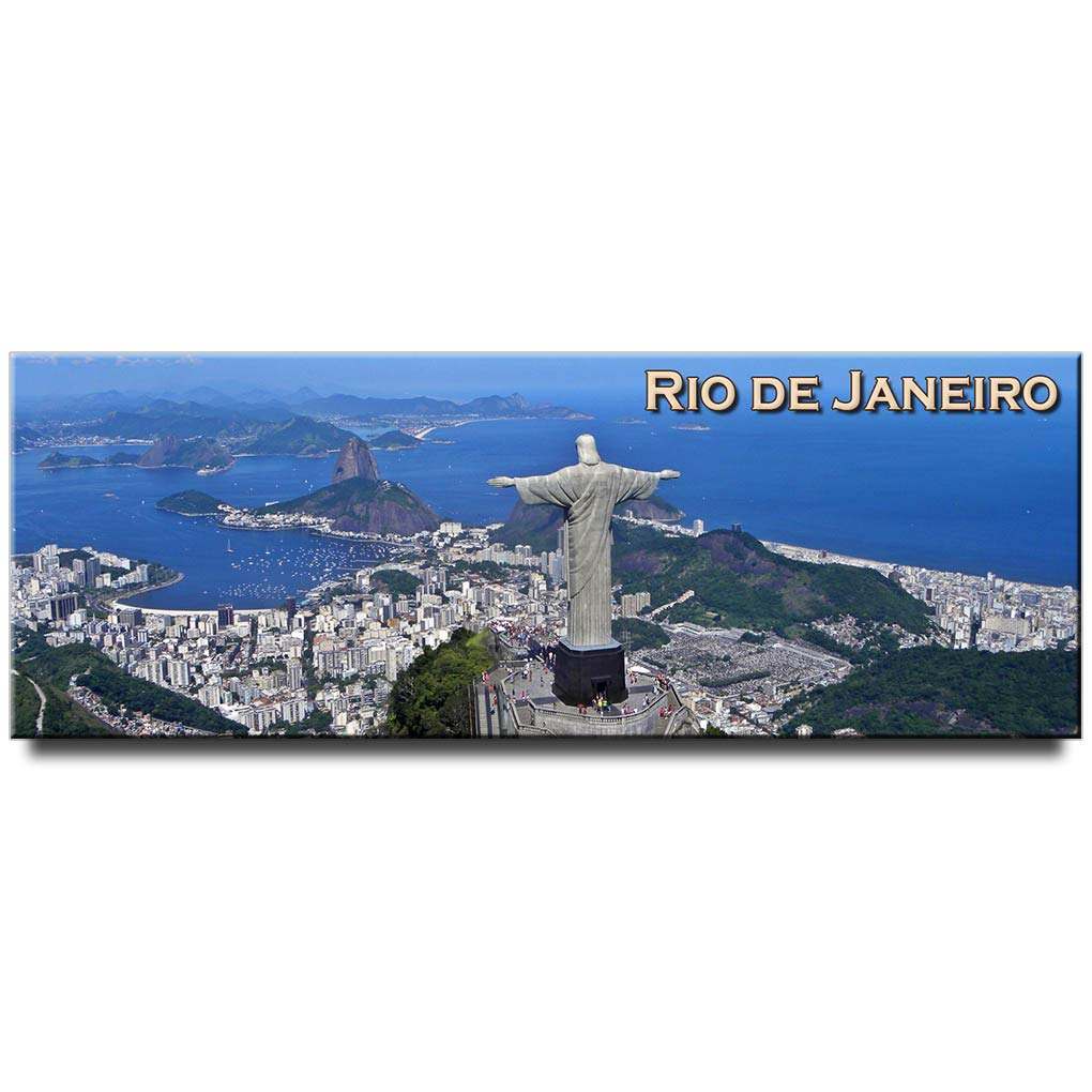 Rio de Janeiro panoramic fridge magnet Brazil travel souvenir Christ the Redeemer