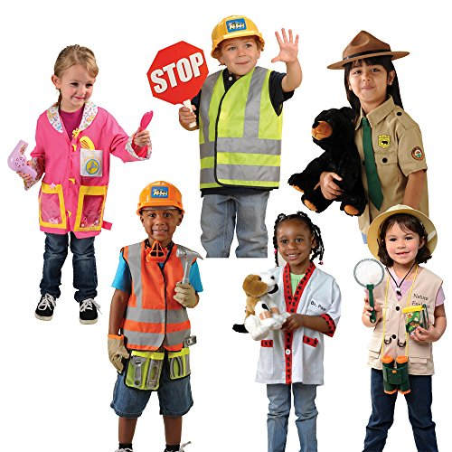 Constructive Playthings CPX-240 Community Helpers Outfits / Costumes for Kids - Set of 6
