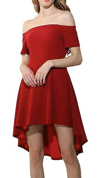 Farktop Women s Large Swallowtail Dress of Maxi Off Shoulder Short Skirt  (S 892551a26