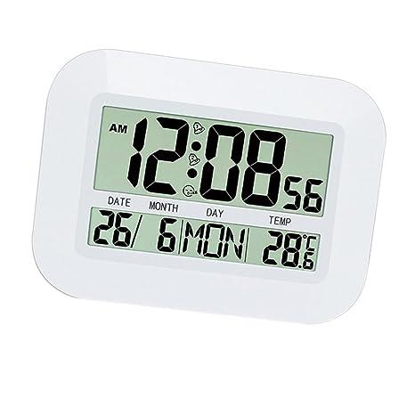 Desconocido MagiDeal Reloj digital LCD grande medidor de temperatura reloj Calender Snooze alarma reloj