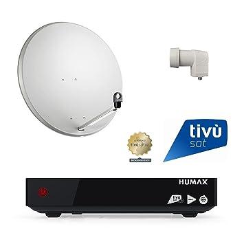 80-LNB SATELLITE DISH KIT HD TIVUSAT RECEIVER HUMAX PVR