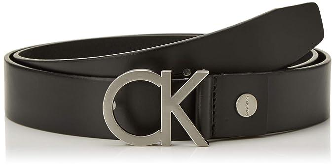 60f8e919cdb686 Calvin Klein Ck Buckle Cintura Uomo, Nero, 115 (Taglia produttore:001)
